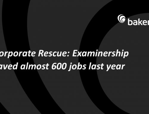 Examinership saved almost 600 jobs last year across 19 different companies